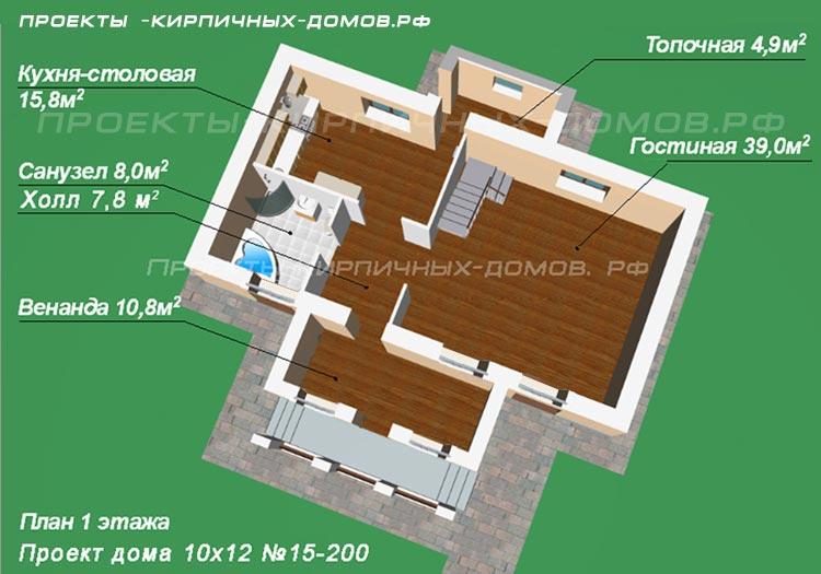 Дом 10х12 одноэтажный фото
