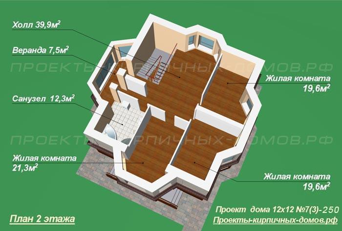 Проект дома 12х12 двухэтажный