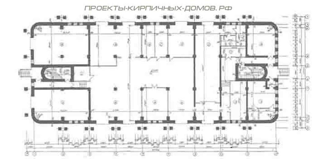 План первого этажа СТО