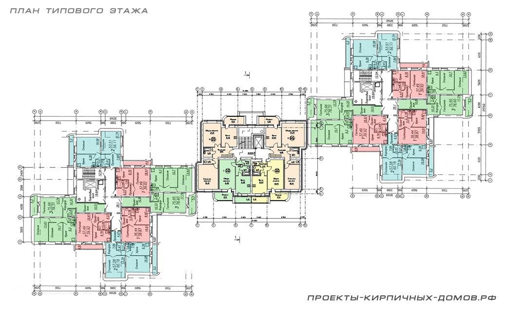 Проекты многоэтажных жилых домов многоквартирных.